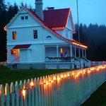 the BandB and the  Christmas lights