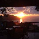 Amazing sunset from casa panorama balcony!