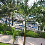 a pool view from Caribe room balcony