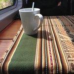 Coca tea on the train in