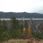 A view of the dam from the scenic overlook.