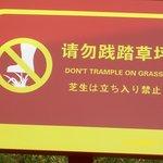 Verbotsschild in Peking