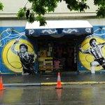 Street view in La Boca, Buenos Aires