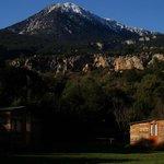 Vistas desde el camping a los montes de alrrededor