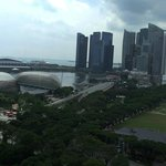 view from 21st floor to Singapore River