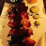 Sushis betterave et saumon