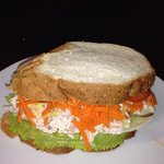 Another popular seller at the cafe. A chicken and salad Vienna sandwich