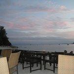 vue de la terrasse plage