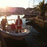 Santa came on a boat!