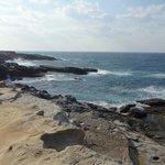 青い海と奇岩
