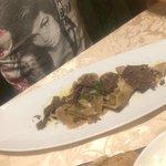 Ravioli di castagne ripieni di cervo con tartufo
