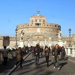 In front on Castel Sant'Angelo