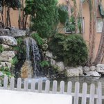waterfall and pond feature