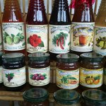 Products on sale  at  the Naturellement Garden Cafe