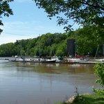 La marina de la Chaudière, embouchure de la rivière Chaudière