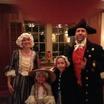 Colonial Williamsburg re-actors dining at Traditions