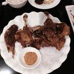 Deep fried duck