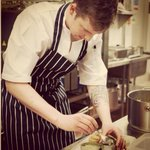 Our head chef Steven working on some new ideas for our evening summer menu