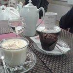 cioccolata bianca, the e muffin