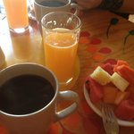 Fresh squeezed juice, coffee and fruit, included in comp breakfast