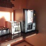 coffee machine in breakfast room