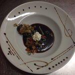 Escargot sauce vin rouge nuage de chèvre