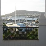 view of marina, from steps near room 588