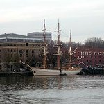 River Avon quayside, Bristol. Unidentified sailing ship