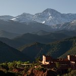Kasbah surrounded by the High Atlas
