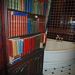 Secret Bathroom behind Bookcase