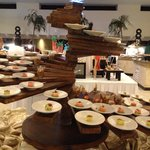 Buffet selection, beautifully decorated.