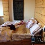 Delux suite bed.
