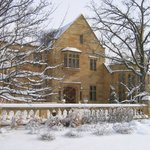 Paine mansion in snow