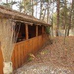 Chata grillowa w ogrodzie.