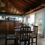 The on-site restaurant at Belizean Shores
