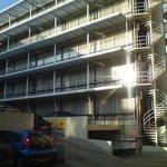 Hotel- rear aspect from d'Arenburg Car Park.