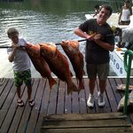 Our boys with a portion of the 1st days catch - Yum!!!!!