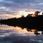 Sunset near the ldge