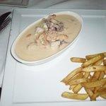 Seafood (in dish water?)
