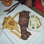 Burnt steak