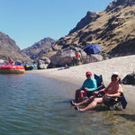 Relaxing on Salmon River Sand