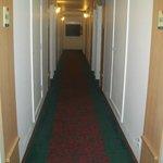 Corredor com acesso aos quartos