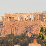 Close-up of Acropolis from the table