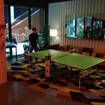 Another table tennis table set up (within hotel)
