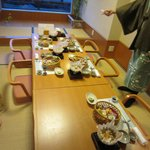 Our traditional dinner lasted several hours with many courses
