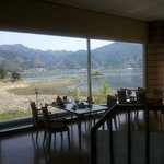 From the breakfast room, view of Lake Kawaguchiko