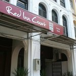 Red Inn Court Outside Signboard
