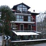 La casa del Puente, nevado