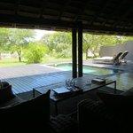 unsere private Terrasse