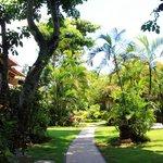 Gartenanlage Weg zu den Zimmern